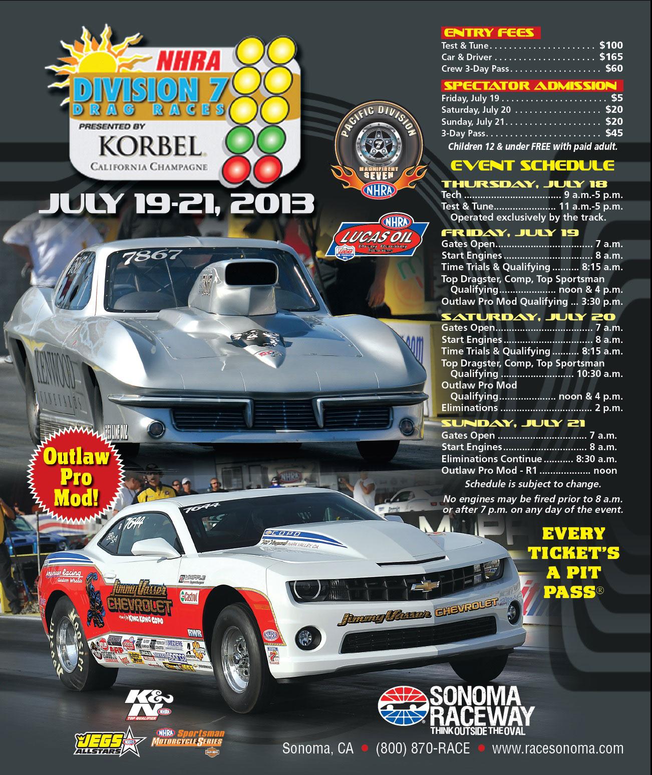 Nhra Lucas Oil Drag Racing Series 2013 Schedule
